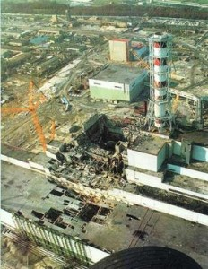 The exploded reactor No 4 of the Chernobyl nuclear plant. (Photo: Wikipedia)