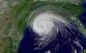 Hurricane Katrina makes landfall in August 2005. (Photo: nps.gov)