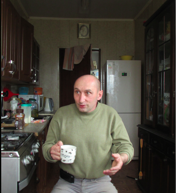 Andrei Konunin in his kitchen