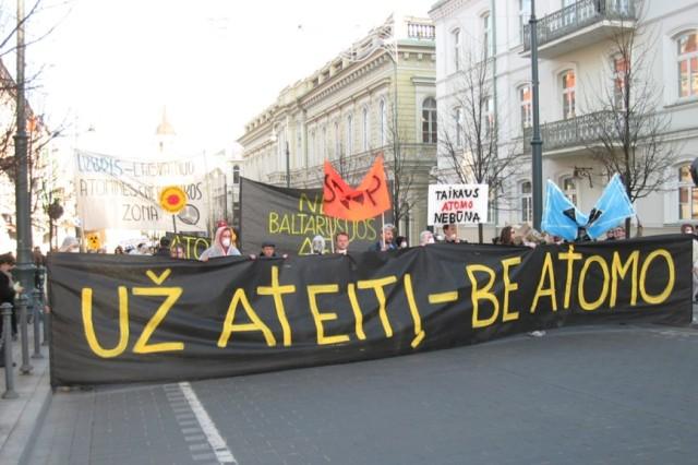 Antinuclear protest Vilnus -2