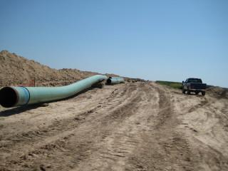 Pipes for Keystone XL construction. (Photo: Wikipedia)