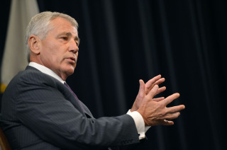 US Secretary of Defense Chuck Hagel delivering a speech at the US Naval War College. (Photo: Wikimedia Commons)