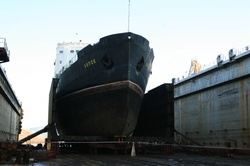 The Lepse at Wharf 3 at Nerpa. (Photo: Nerpa Shipyard)