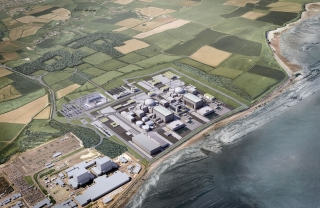 A mock up of the Hinkley Point C project. (Photo: EDF Energy)