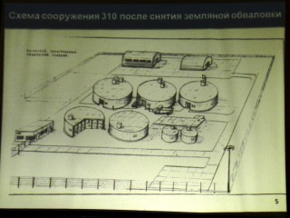 A schematic map of the AECC's Site 310 after the planned removal of the building. (From the AECC's presentation at the public hearing in Angarsk, December 5, 2014.)