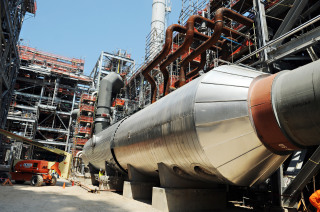 A vessel in the gas cleanup area of Mississippi Power's Kemper plant. (Photo: Mississippi Power via Flickr