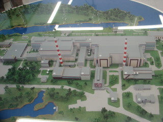A model of the Kola Nuclear Power Plant. (Photo: Anna Kireeva/Bellona)