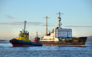 The Lepse being towed out of Murmansk's Atomflot port, where it languished for 20 years, to Nerpa in September 2012. (Photo: Bellona)