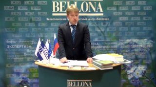 ERC Bellona Executive Director announced the winners of the EcoJurist 2014 competition on Bellona's youtube channel. (Image: Bellona youtube still)