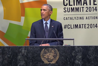 President Obama outlines his climate plan at the UN in September. (Photo: Whitehouse.gov)