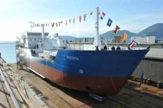 rossita leaving port in Italy