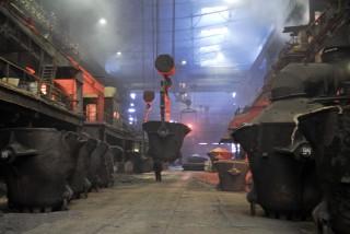 Inside the KMMC's smelting works. (Photo: Vladimir Voronov)