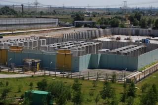 Spent nuclear fuel storage at the Zaporozhia Nuclear Power Plant in Ukraine. (Photo: energoatom.kiev.ua)