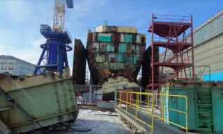 After removal of the Lepse's stern. (Source: Nerpa)
